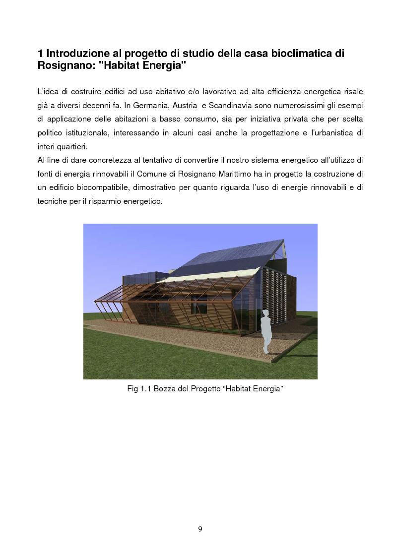 Anteprima della tesi: Energie rinnovabili e risparmio energetico in bioedilizia applicate a un caso studio di edificio bioclimatico (Casa solare Rosignano), Pagina 3