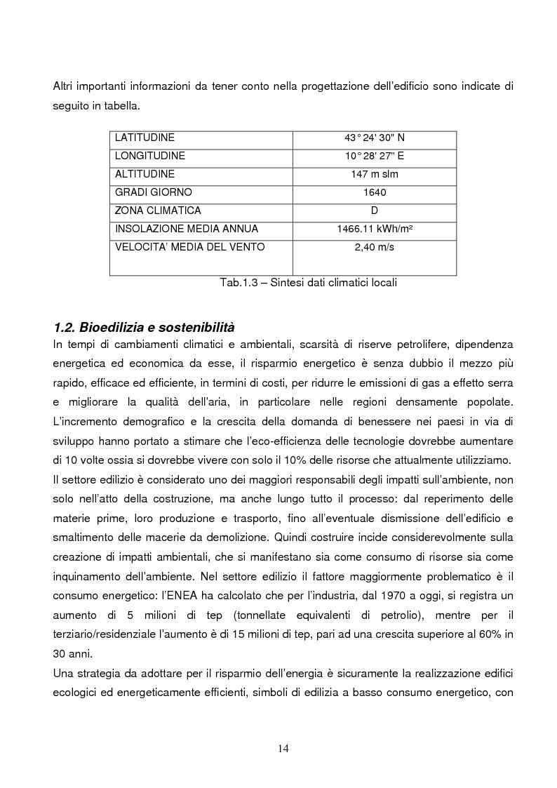 Anteprima della tesi: Energie rinnovabili e risparmio energetico in bioedilizia applicate a un caso studio di edificio bioclimatico (Casa solare Rosignano), Pagina 8