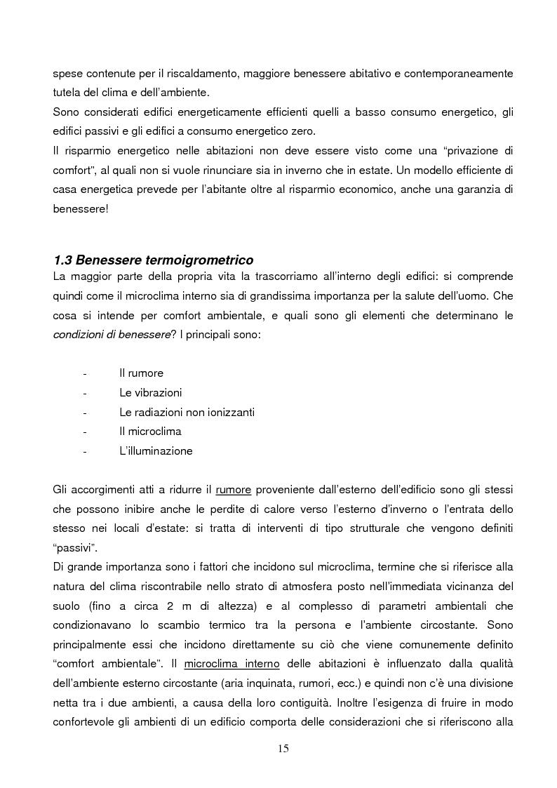 Anteprima della tesi: Energie rinnovabili e risparmio energetico in bioedilizia applicate a un caso studio di edificio bioclimatico (Casa solare Rosignano), Pagina 9