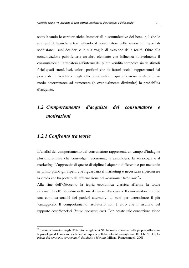 Anteprima della tesi: Un modello di regressione multinomiale per l'analisi delle motivazioni d'acquisto: il caso dei prodotti griffati, Pagina 11