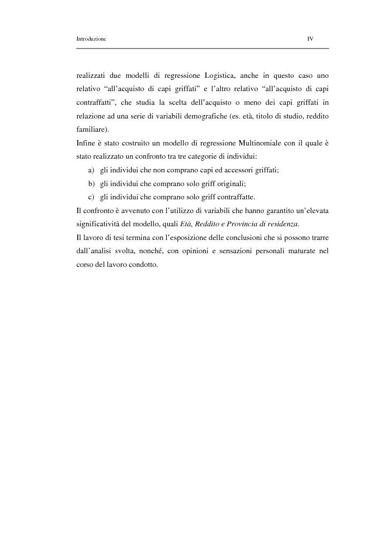 Anteprima della tesi: Un modello di regressione multinomiale per l'analisi delle motivazioni d'acquisto: il caso dei prodotti griffati, Pagina 4