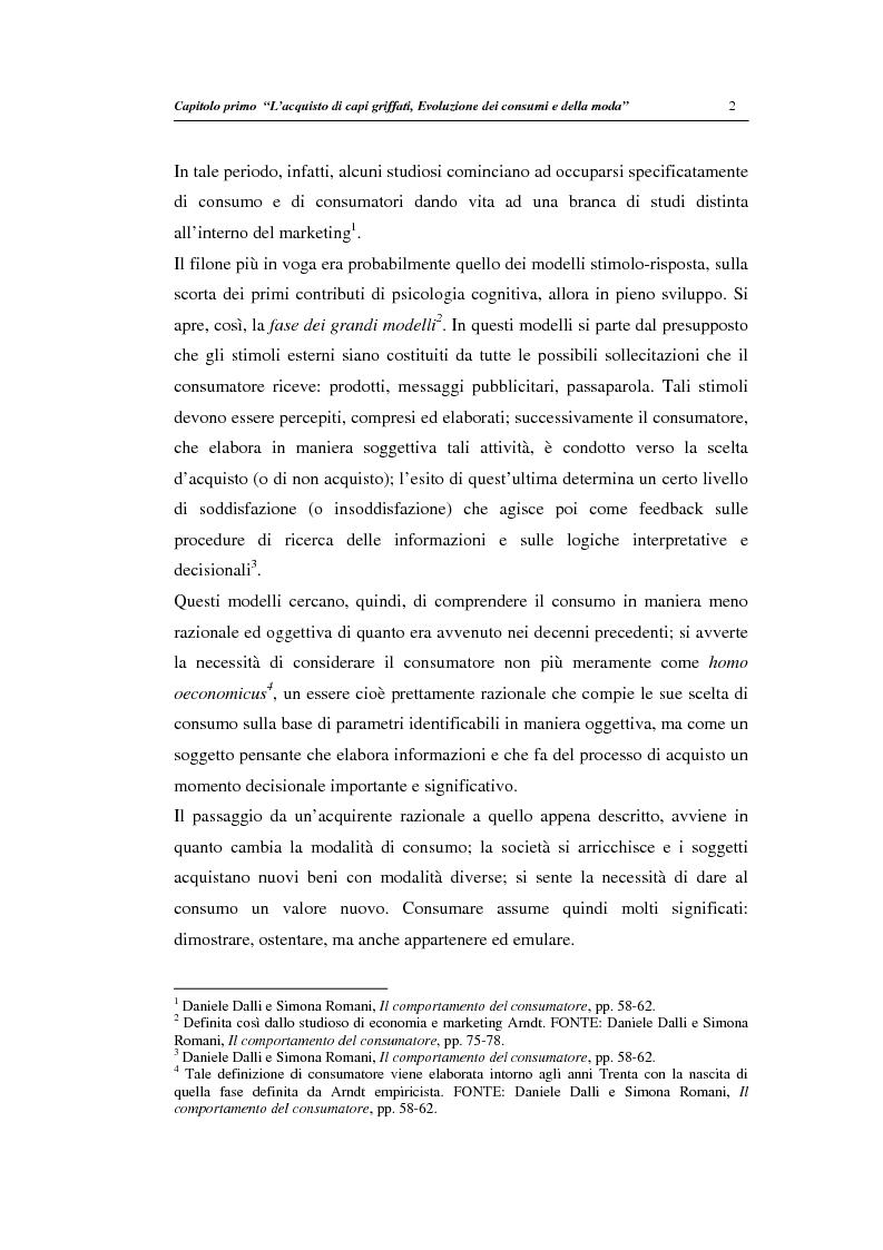 Anteprima della tesi: Un modello di regressione multinomiale per l'analisi delle motivazioni d'acquisto: il caso dei prodotti griffati, Pagina 6