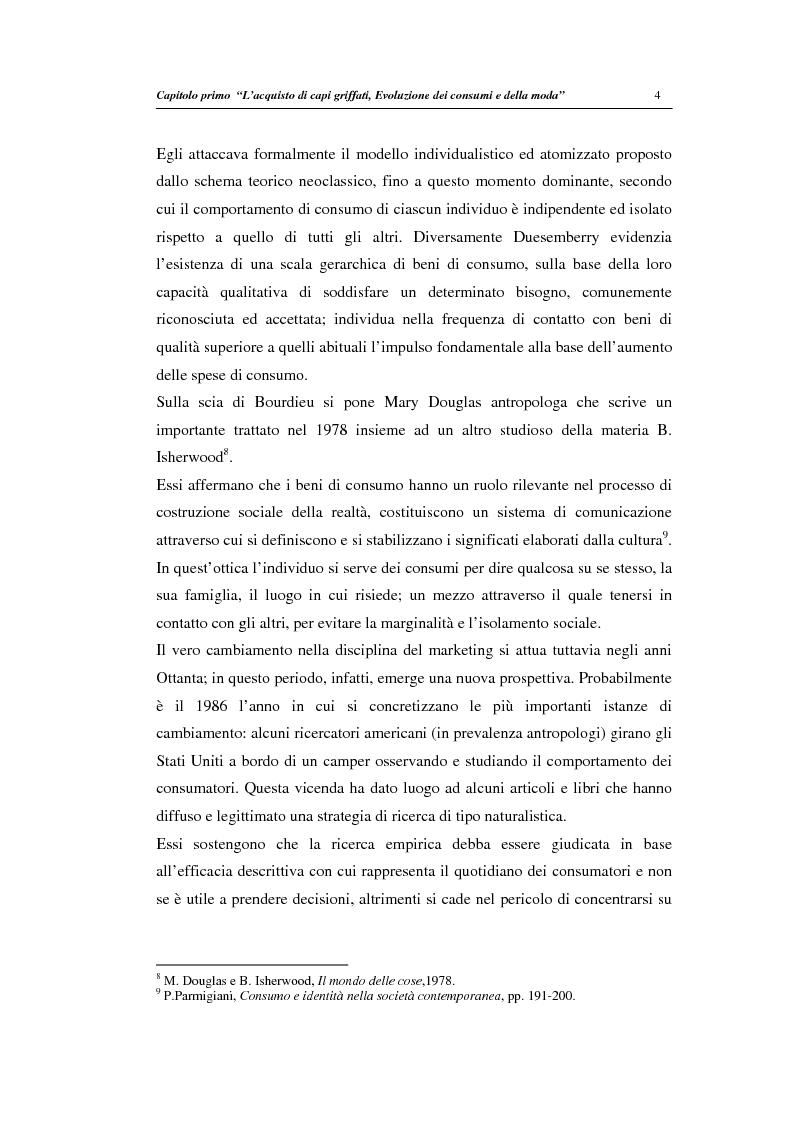 Anteprima della tesi: Un modello di regressione multinomiale per l'analisi delle motivazioni d'acquisto: il caso dei prodotti griffati, Pagina 8