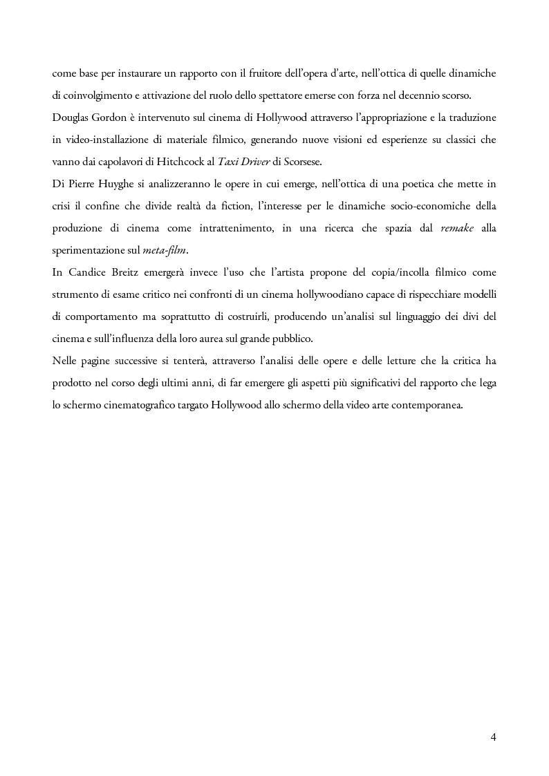 Anteprima della tesi: Schermi incrociati. Hollywood nelle opere di Douglas Gordon, Pierre Huyghe e Candice Breitz, Pagina 2