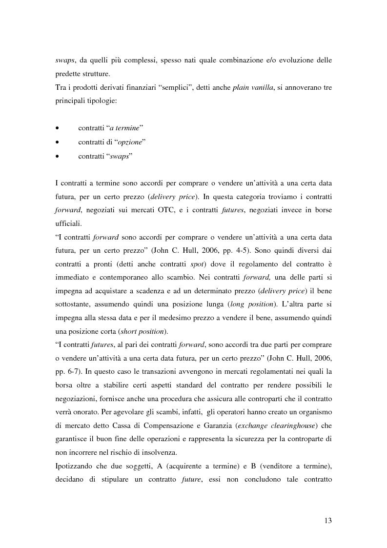 Anteprima della tesi: La trasparenza bancaria nel collocamento degli strumenti finanziari derivati, Pagina 7