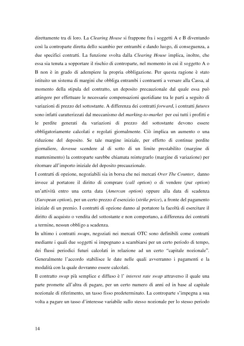 Anteprima della tesi: La trasparenza bancaria nel collocamento degli strumenti finanziari derivati, Pagina 8