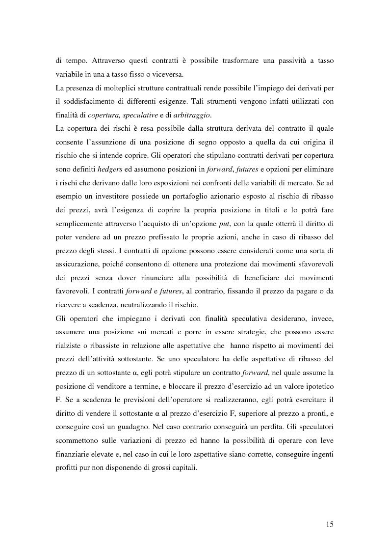 Anteprima della tesi: La trasparenza bancaria nel collocamento degli strumenti finanziari derivati, Pagina 9