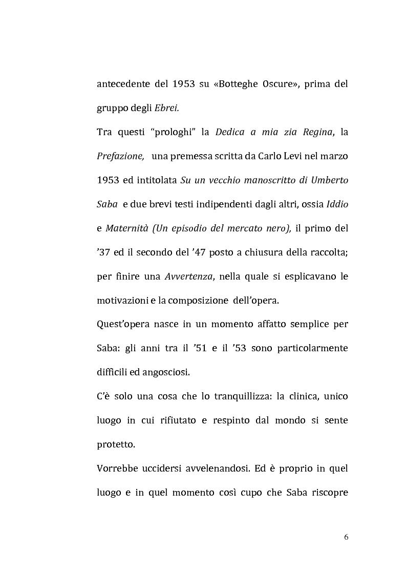 Anteprima della tesi: Il ricordo come racconto: l'altro Saba, Pagina 3