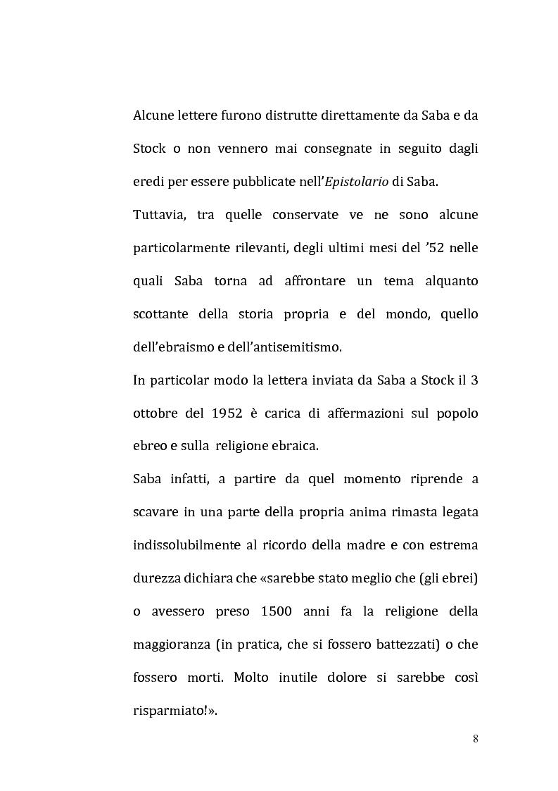 Anteprima della tesi: Il ricordo come racconto: l'altro Saba, Pagina 5