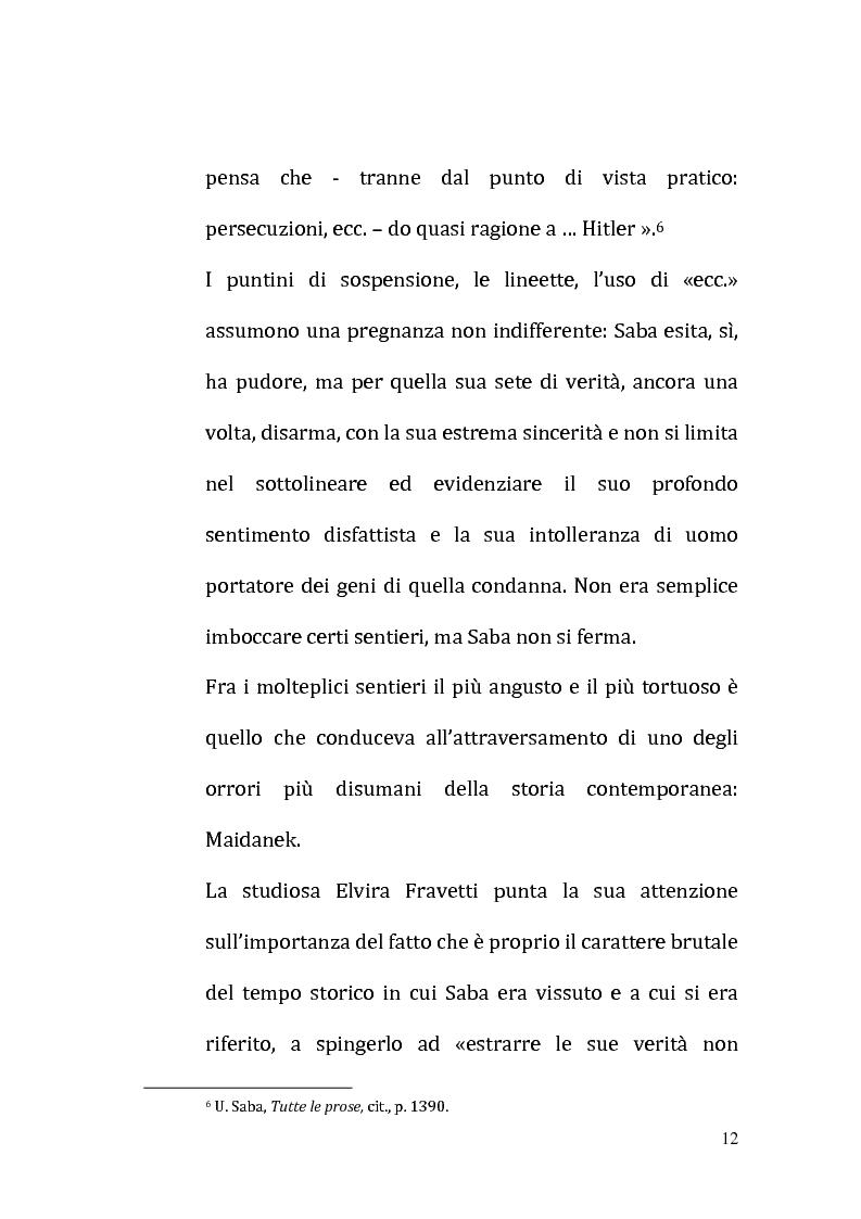 Anteprima della tesi: Il ricordo come racconto: l'altro Saba, Pagina 9