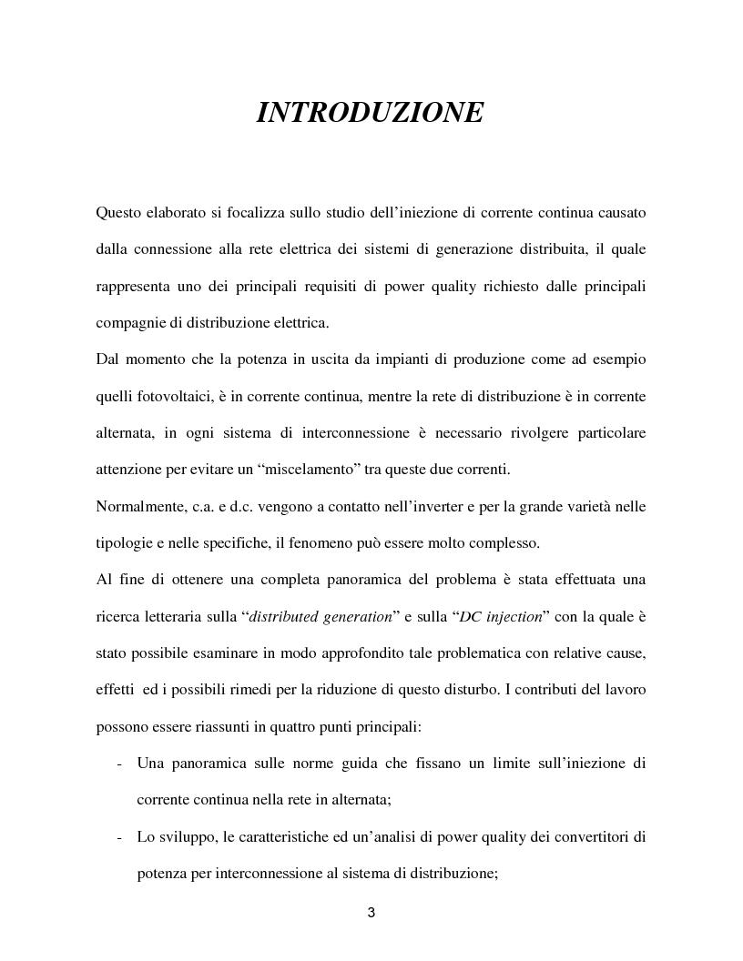 Anteprima della tesi: Reti a generazione distribuita ''iniezione DC'', Pagina 1