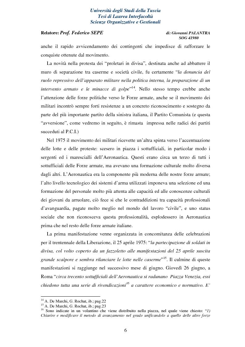 Anteprima della tesi: La Rappresentanza Militare e le relative proposte di riforma, Pagina 6