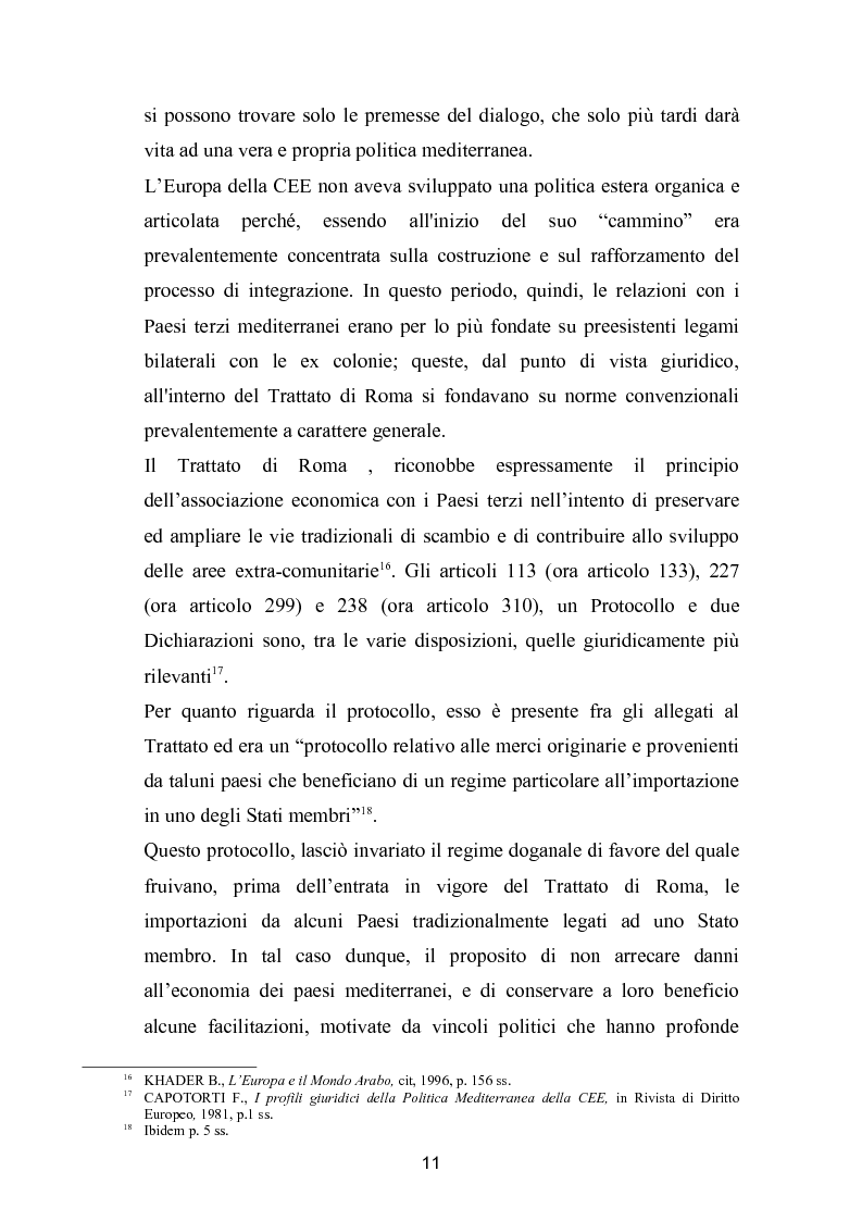 Anteprima della tesi: La politica mediterranea dell'Unione europea, Pagina 11