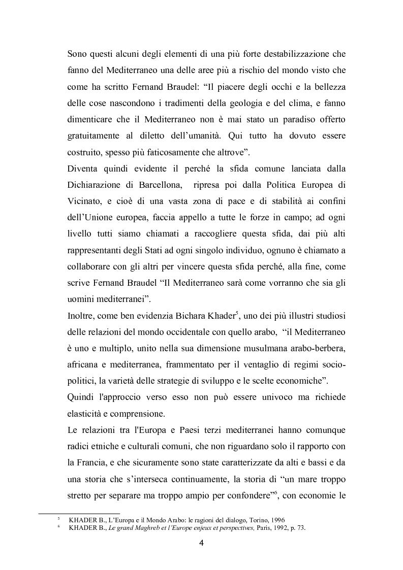 Anteprima della tesi: La politica mediterranea dell'Unione europea, Pagina 4
