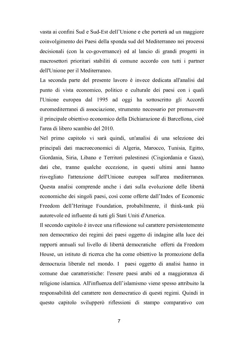 Anteprima della tesi: La politica mediterranea dell'Unione europea, Pagina 7
