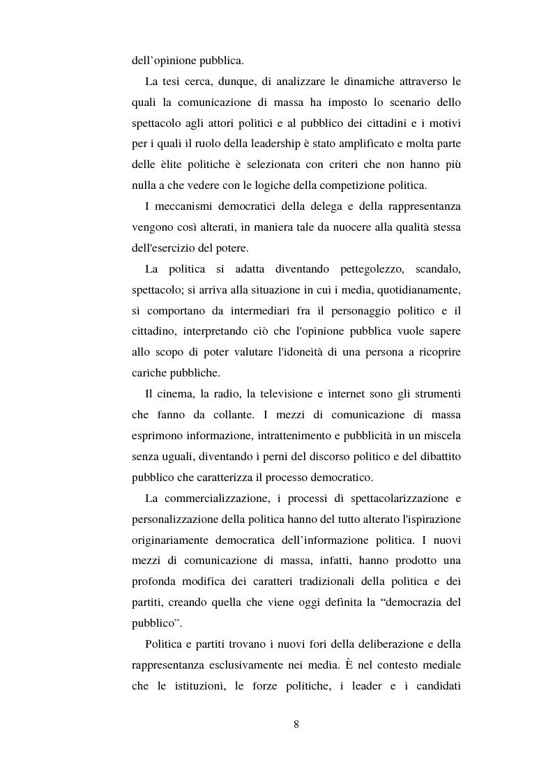 Anteprima della tesi: La comunicazione politica e l'informazione-spettacolo, Pagina 4