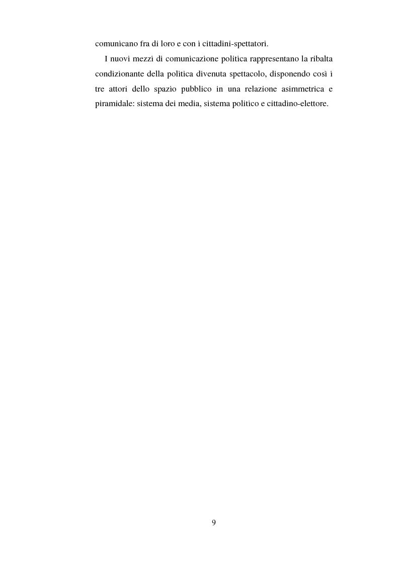 Anteprima della tesi: La comunicazione politica e l'informazione-spettacolo, Pagina 5