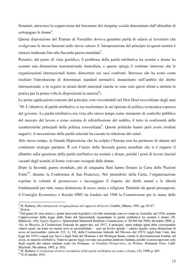 Anteprima della tesi: L'applicazione da parte della Francia e dell'Italia del principio europeo della parità tra uomini e donne in materia di lavoro, Pagina 5