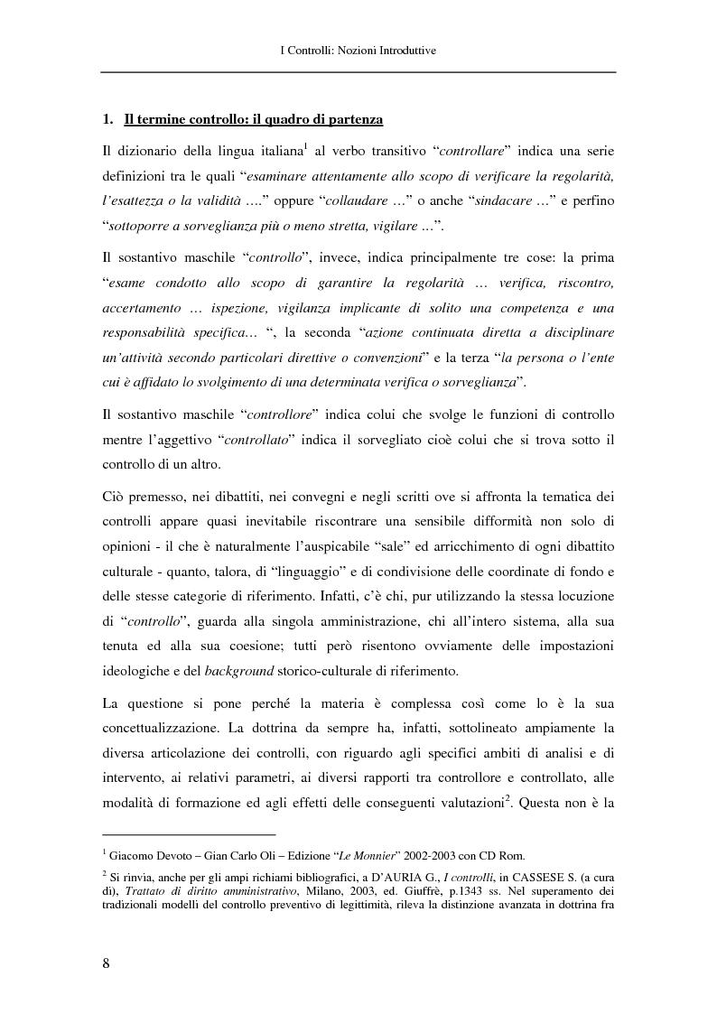 Anteprima della tesi: Il controllo nella pubblica amministrazione: ieri, oggi e domani, Pagina 2
