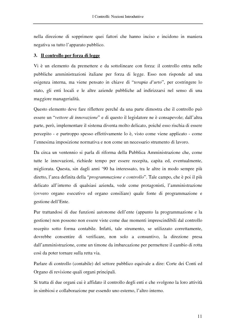 Anteprima della tesi: Il controllo nella pubblica amministrazione: ieri, oggi e domani, Pagina 5