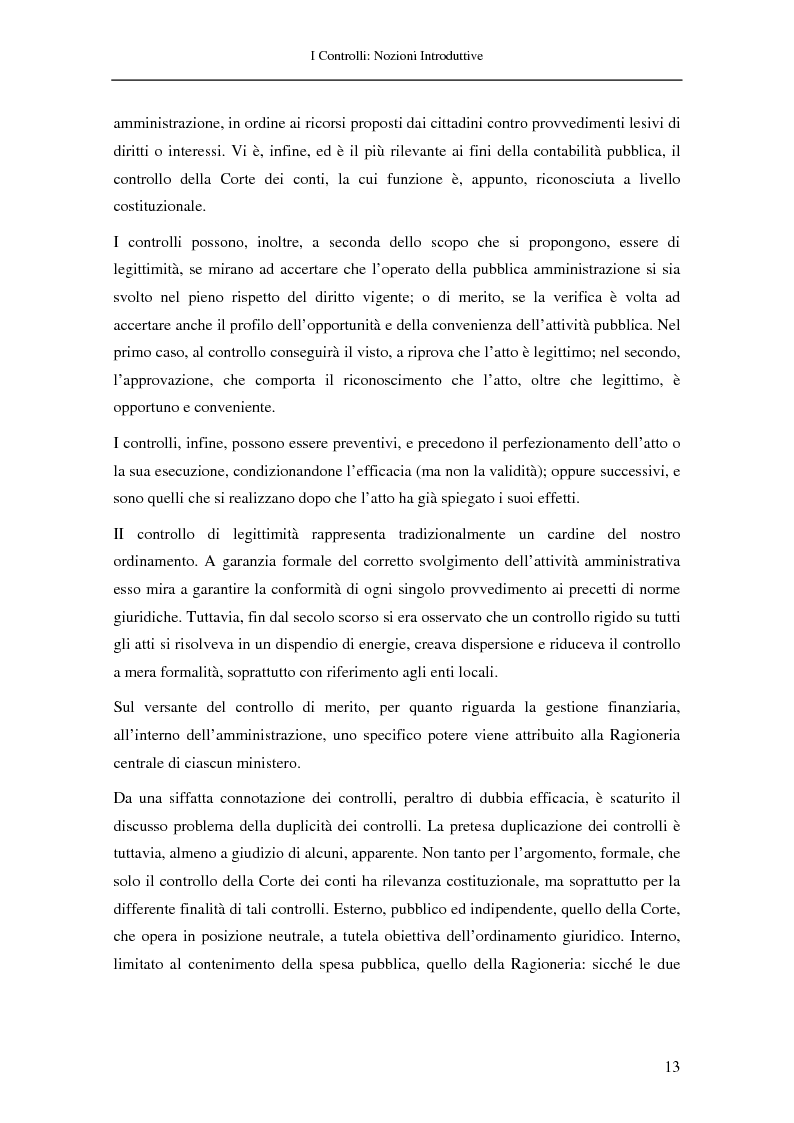 Anteprima della tesi: Il controllo nella pubblica amministrazione: ieri, oggi e domani, Pagina 7