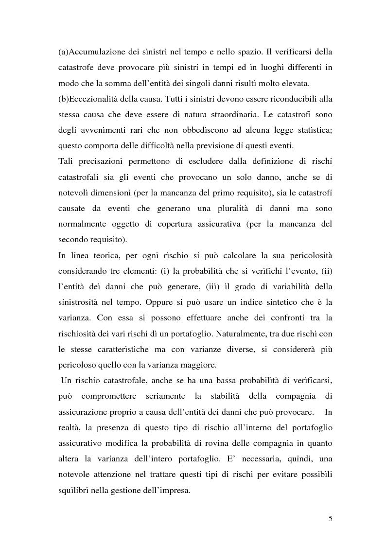 Anteprima della tesi: La riassicurazione per il rischio catastrofale: un approccio stocastico alle coperture terremoto del mercato italiano, Pagina 2