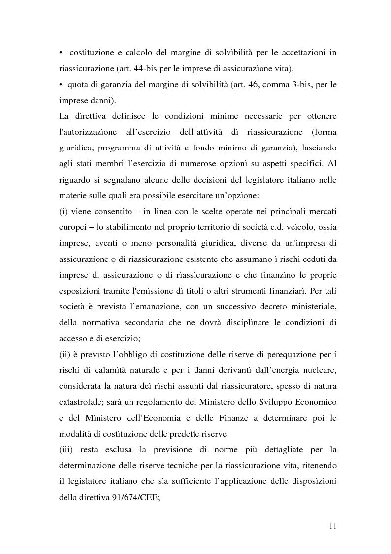Anteprima della tesi: La riassicurazione per il rischio catastrofale: un approccio stocastico alle coperture terremoto del mercato italiano, Pagina 8