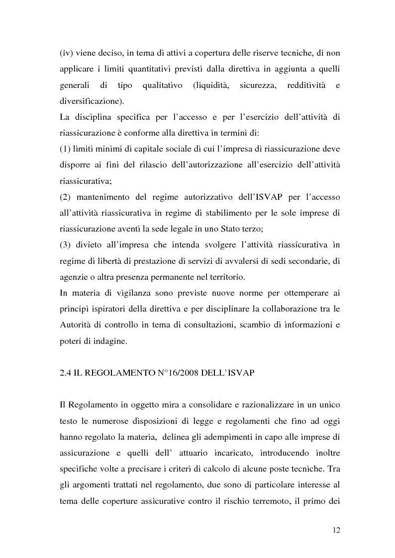 Anteprima della tesi: La riassicurazione per il rischio catastrofale: un approccio stocastico alle coperture terremoto del mercato italiano, Pagina 9