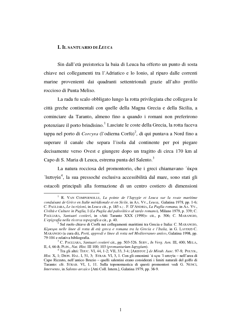 Anteprima della tesi: Gli spazi del culto nel Salento antico, Pagina 4