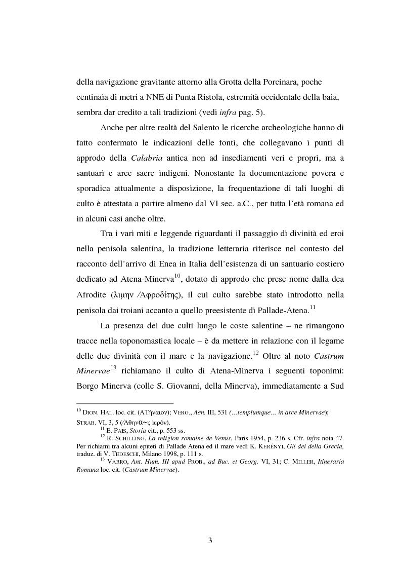 Anteprima della tesi: Gli spazi del culto nel Salento antico, Pagina 6