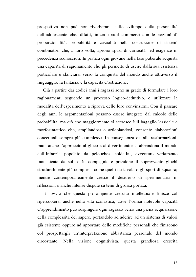 Anteprima della tesi: Adolescenza e ''adolescenze estreme'' - Viaggio attraverso il disagio adolescenziale, Pagina 13