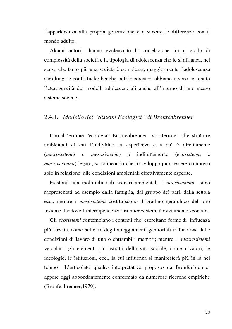 Anteprima della tesi: Adolescenza e ''adolescenze estreme'' - Viaggio attraverso il disagio adolescenziale, Pagina 15