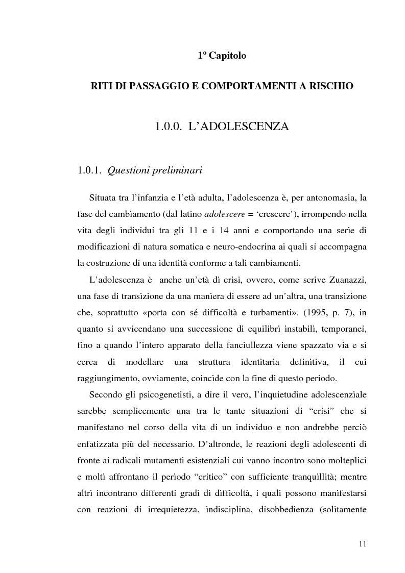 Anteprima della tesi: Adolescenza e ''adolescenze estreme'' - Viaggio attraverso il disagio adolescenziale, Pagina 6