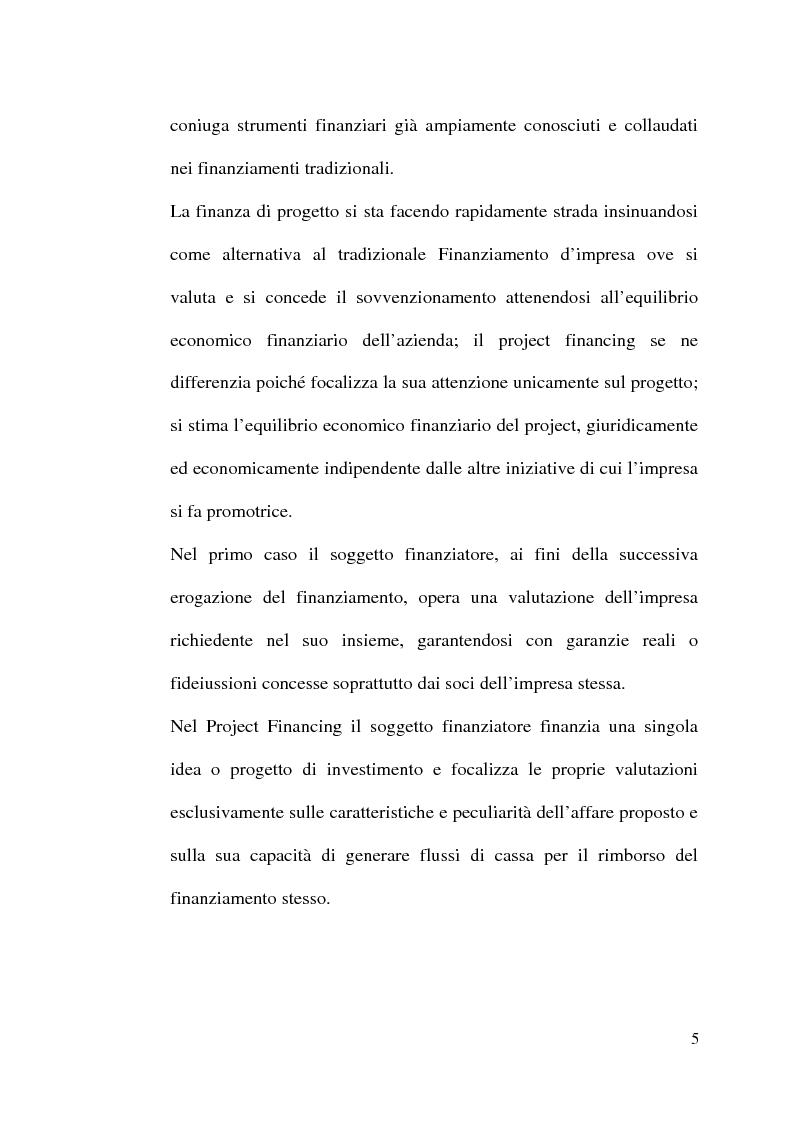 Anteprima della tesi: Il project financing nella realizzazione di opere pubbliche e il caso della città di Alberobello, Pagina 3