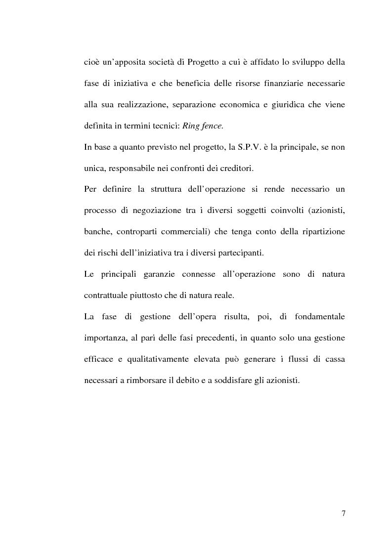 Anteprima della tesi: Il project financing nella realizzazione di opere pubbliche e il caso della città di Alberobello, Pagina 5