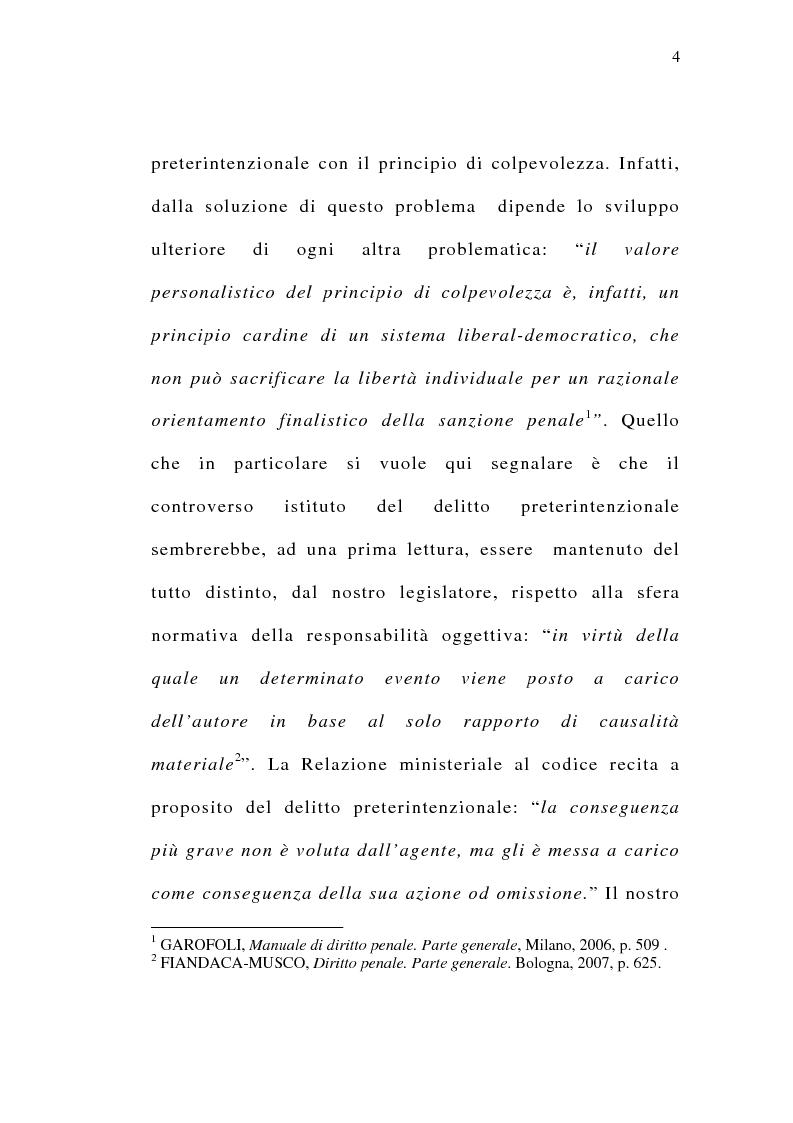 Anteprima della tesi: Il delitto preterintenzionale, Pagina 2