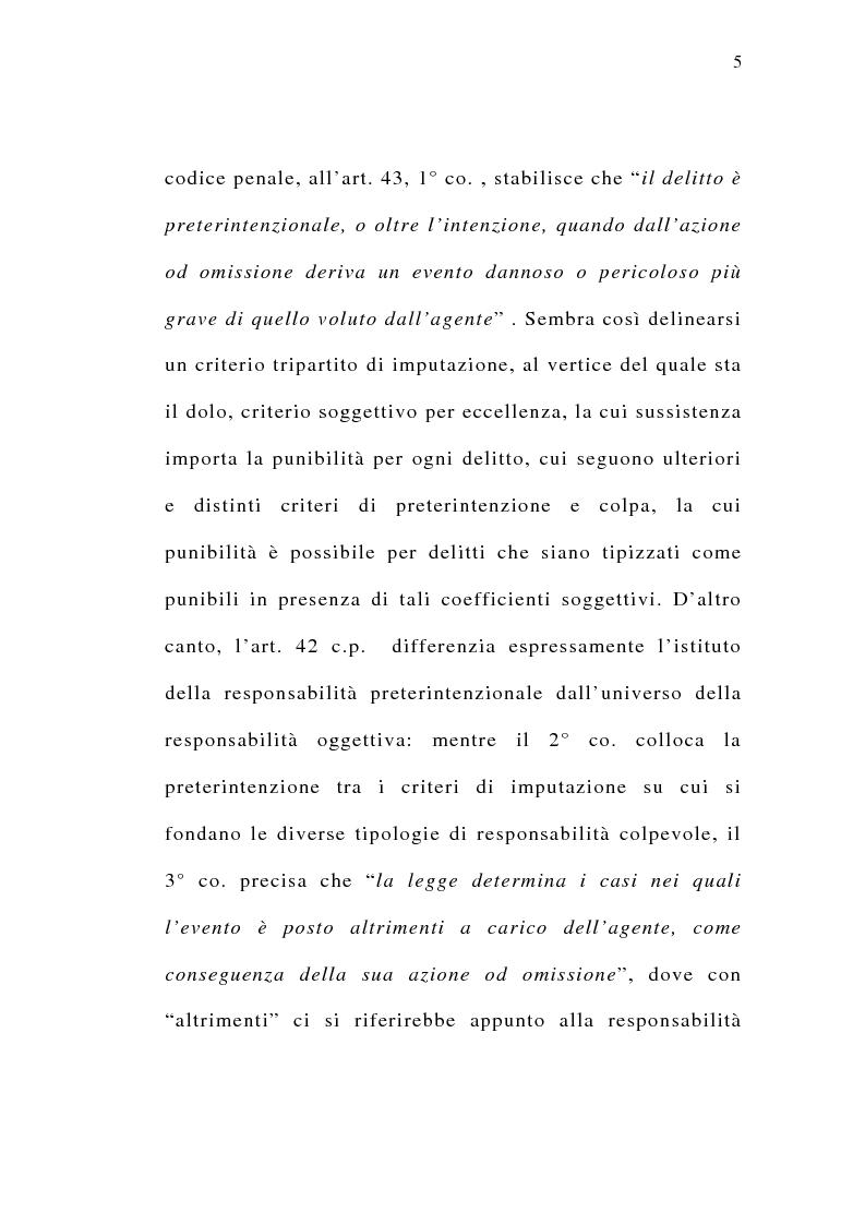 Anteprima della tesi: Il delitto preterintenzionale, Pagina 3