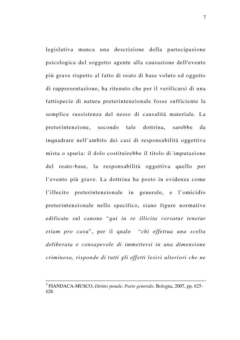 Anteprima della tesi: Il delitto preterintenzionale, Pagina 5