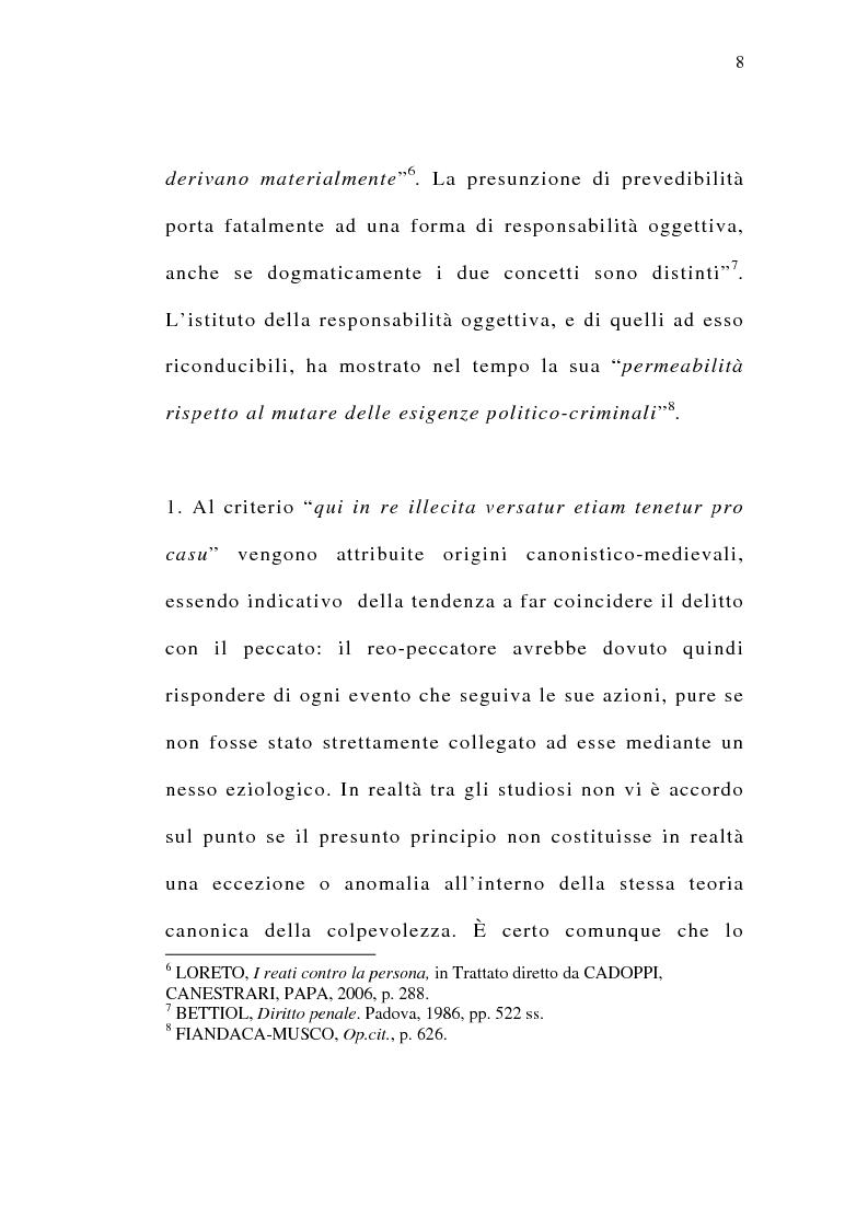 Anteprima della tesi: Il delitto preterintenzionale, Pagina 6