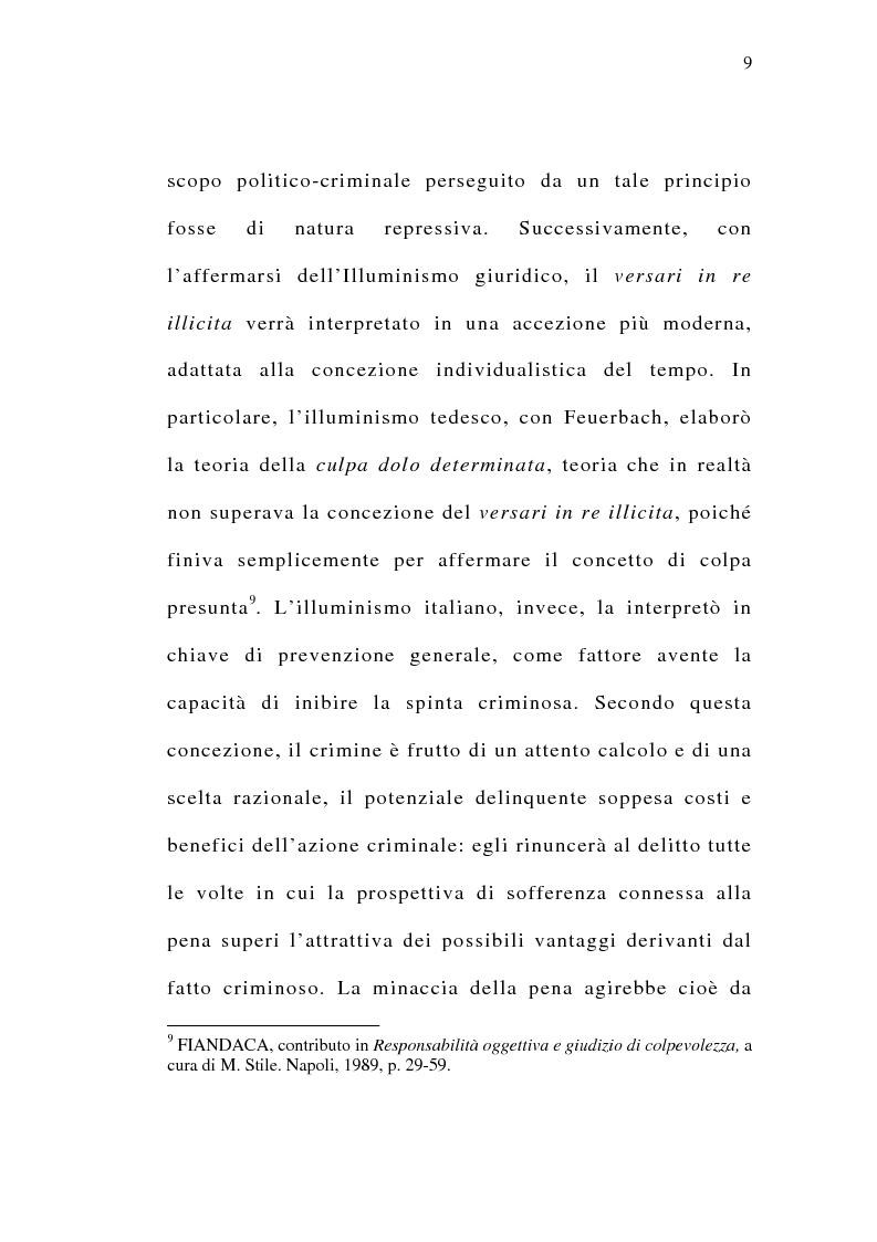 Anteprima della tesi: Il delitto preterintenzionale, Pagina 7