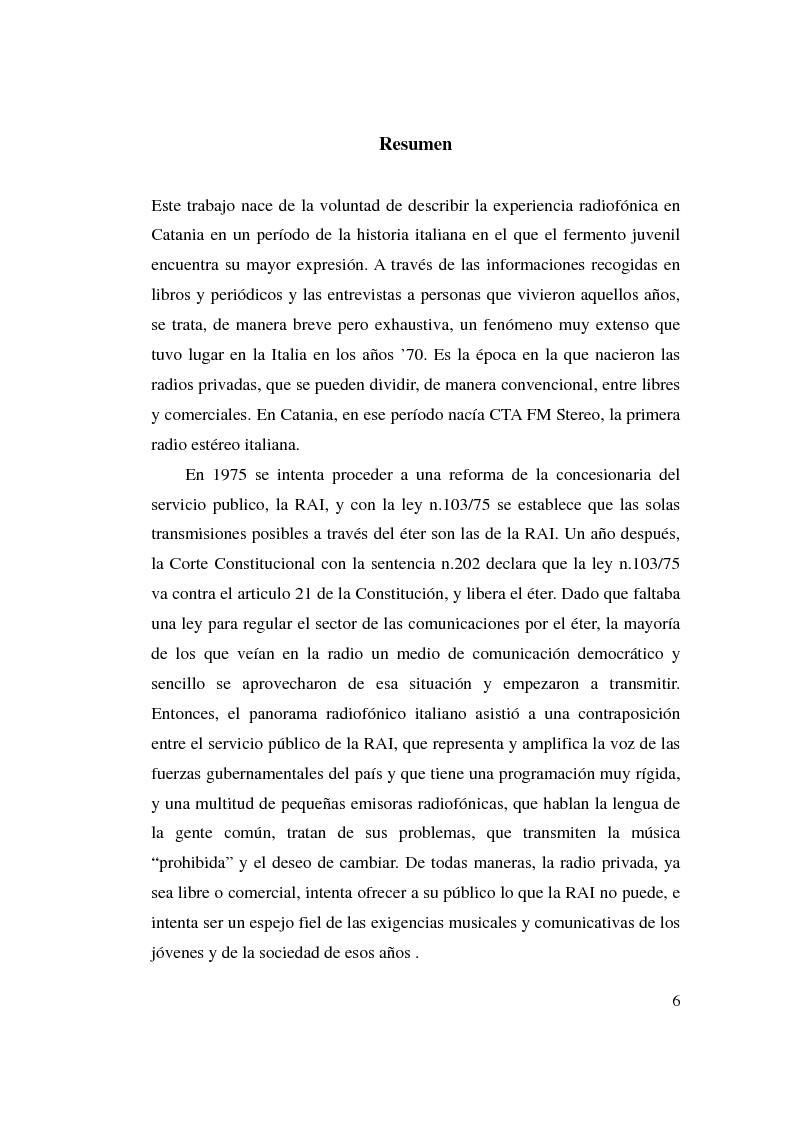 Anteprima della tesi: La stagione dell'indipendenza: CTA FM Stereo e le sue sorelle, Pagina 3