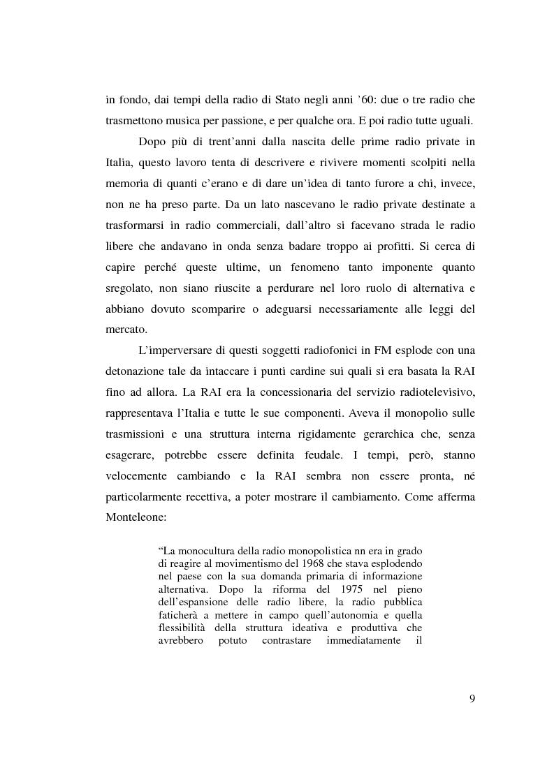 Anteprima della tesi: La stagione dell'indipendenza: CTA FM Stereo e le sue sorelle, Pagina 6