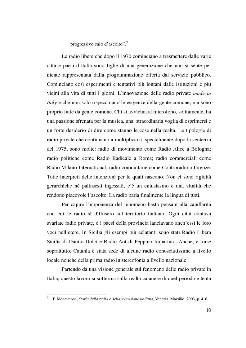 Anteprima della tesi: La stagione dell'indipendenza: CTA FM Stereo e le sue sorelle, Pagina 7