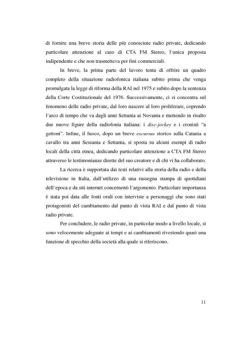 Anteprima della tesi: La stagione dell'indipendenza: CTA FM Stereo e le sue sorelle, Pagina 8