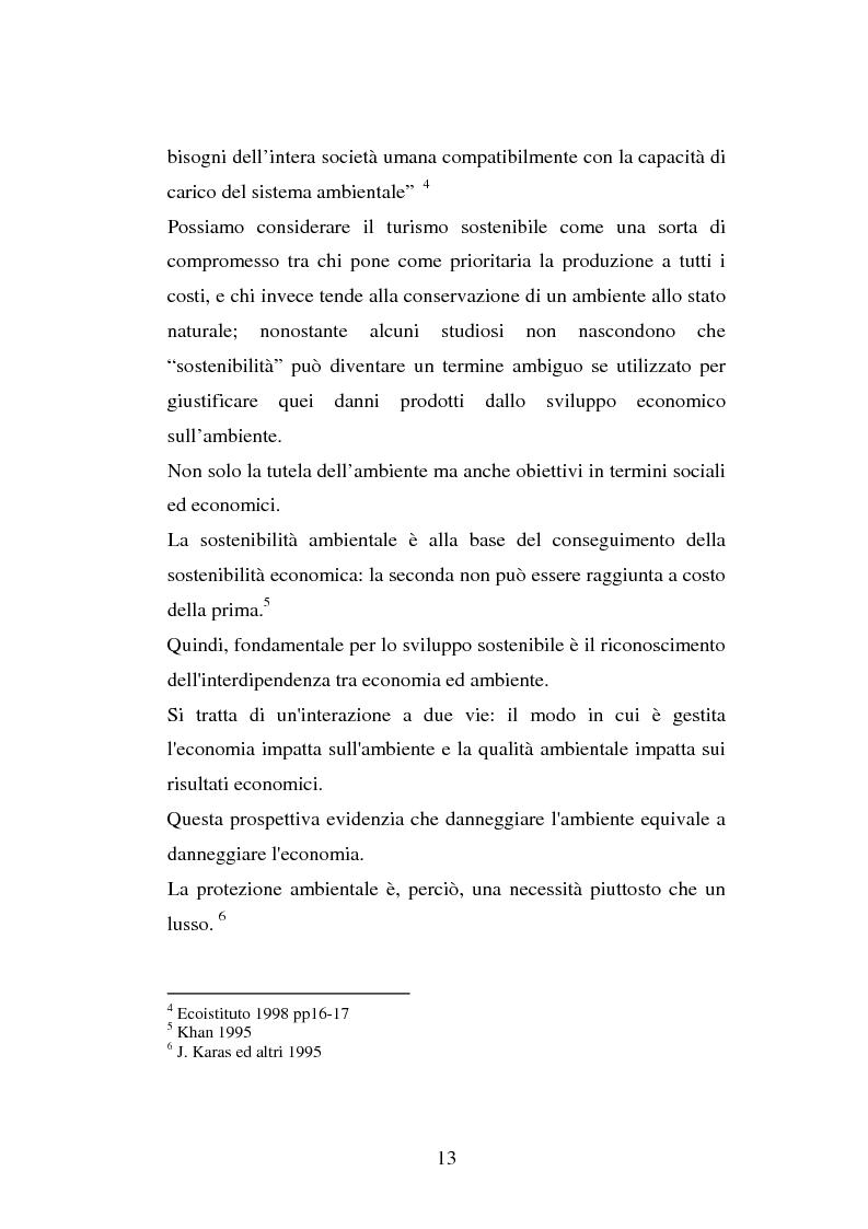 Anteprima della tesi: Turismo e ambiente: un binomio possibile, Pagina 10