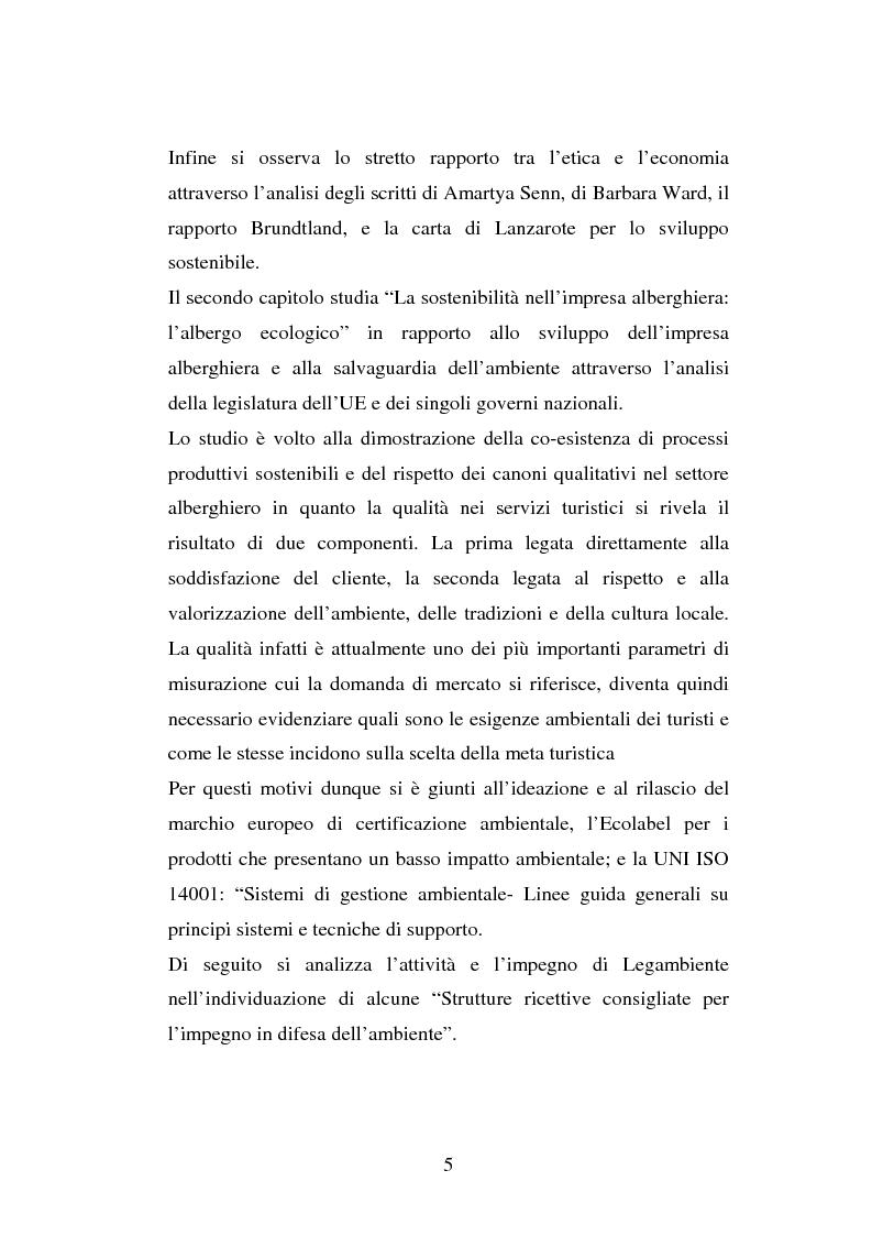 Anteprima della tesi: Turismo e ambiente: un binomio possibile, Pagina 2