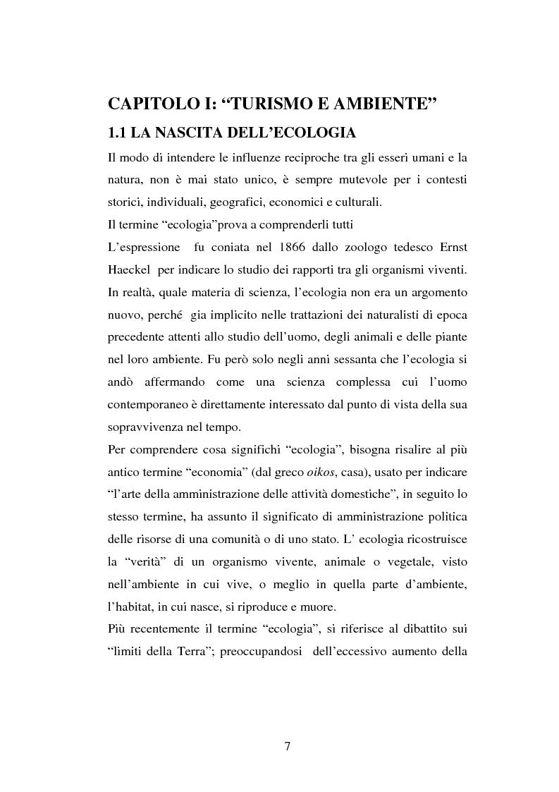 Anteprima della tesi: Turismo e ambiente: un binomio possibile, Pagina 4