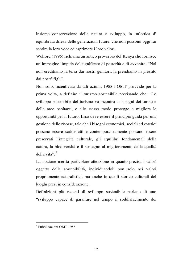 Anteprima della tesi: Turismo e ambiente: un binomio possibile, Pagina 9
