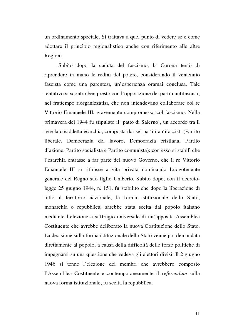 Anteprima della tesi: Le variazioni territoriali delle Regioni, Pagina 11