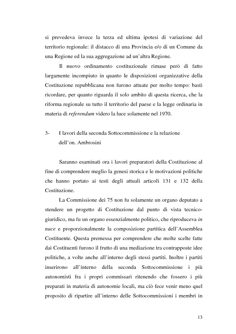 Anteprima della tesi: Le variazioni territoriali delle Regioni, Pagina 13